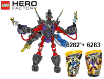 Схемы и инструкции LEGO Hero Factory - Combi 6282 + 6283 (Stringer + Voltix)  - Lego Hero Factory 6282 6283