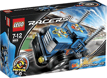 Схемы и инструкции LEGO Racers - Side Rider 55 (Гонщик 55) - Lego Racers 8668